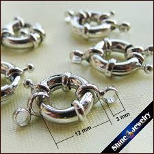 necklace ring clasp images 10pcs 1 strings white gold plated spring ring clasp 12mm diy claw jpg