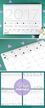 botanical calendars free printables three stylish 2017 calendars botanical