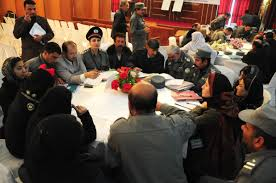 members of the round table file afghan national police anp members have a round table