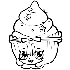 shopkins cupcakes coloring pages getcoloringpages com