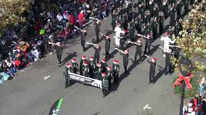 green hs marching band in raleigh parade 2017