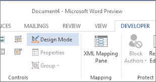 design form in word create a fillable form word