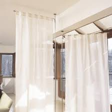 Tension Rods For Windows Ideas Anywhere Telescoping Curtain System From Umbra Porch Divider