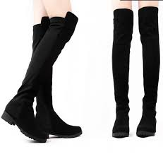 womens boots leather fashion designer black leather winter boots the knee