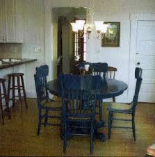 blue painted dining table salvaged whimsy our last house renovation
