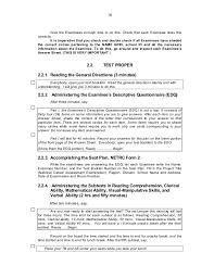 Reading Comprehension Test Ncae   2011 ncae examiner s handbook updated 1