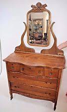 Antique Dresser Vanity Oak Brown Antique Dressers U0026 Vanities 1900 1950 Ebay