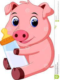 cute baby pig cartoon illustration 50305218 megapixl