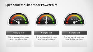 Excel Speedometer Template Slidemodel Com Speedometer Powerpoint Template