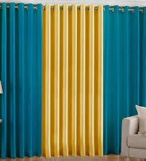 Striped Yellow Curtains Attractive Blue And Yellow Curtains And Contemporary Brief Blue
