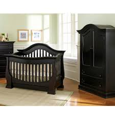 Black Crib With Changing Table Experience The Elegance Of Black Baby Cribs Home Decor And Furniture