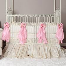 baby crib bedding pink patterned