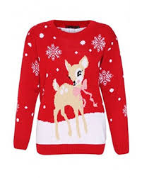 reindeer and snowflakes sweater with lights