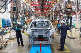 bmw factory robots mazda buys shiny new paint shop and shiny new robots for their