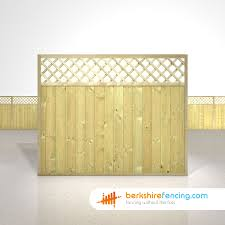tongue and groove lattice top fence panels 5ft x 6ft natural