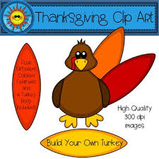 thanksgiving clip build your own turkey by deeder do tpt