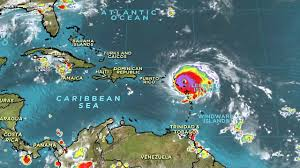 Puerto Rico On A Map by Hurricane Irma Makes Landfall In Caribbean