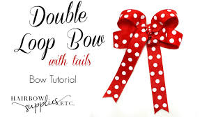 hairbow supplies loop hair bow with tails hairbow supplies etc