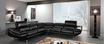 Contemporary Black Leather Sofa Decorating Tips Around Modern Black Leather Furniture La