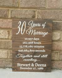 30th wedding anniversary gifts for parents 30 years of marriage painted wood sign 30th anniversary