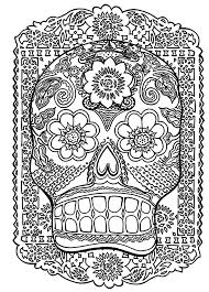 skull head antistress zen and anti stress coloring pages for