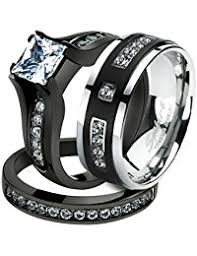 stainless steel wedding ring sets stainless steel bridal sets wedding engagement