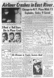 buddy holly ritchie valens and big bopper die in 1959 ny daily news