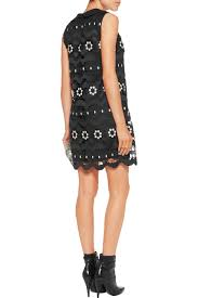 cave woman halloween costume daisy swirl guipure lace mini dress anna sui us the outnet