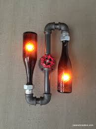 beer bottle sconce industrial lighting steampunk lamps