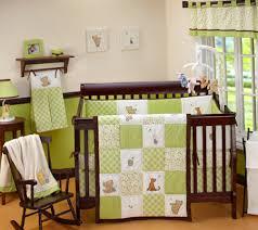 baby nursery decor greenie white square tile pattern blanket