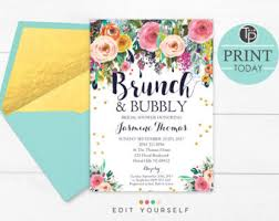 bridal brunch invitation brunch invitation etsy