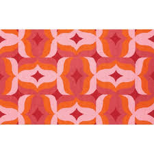 Orange Bathroom Rugs by Pink And Orange Chevron Rug Pink And Orange Rug Hot Pink And