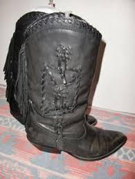 womens cowboy boots size 9 harley davidson black flames rivet womens cowboy
