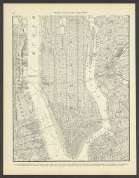 New York City Map Of Manhattan by 1942 Vintage Map Of Upper Manhattan And The Bronx New York New