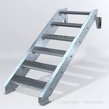 stahltreppe 6 stufen vario pro 600 feuerverzinkt bausatztreppe - Bausatz Treppe