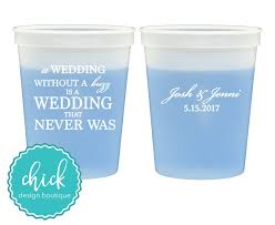chagne wedding favors wedding without a buzz 16 oz color change cup wedding favors