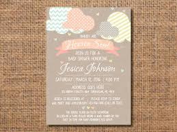 heaven sent baby shower invitation gender neutral baby