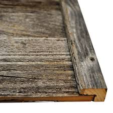 diy reclaimed barn wood finish trim in brown or grey to cover cut