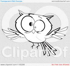 clipart owl black and white cartoon black and white line art of a cross eyed owl flying