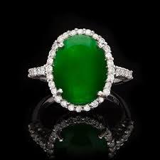 jade engagement ring jade diamond ring at 1stdibs