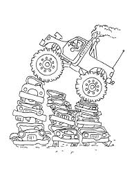 famous monster truck bigfoot coloring free coloring pages