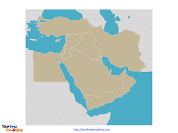 Middle East Map With Capitals by Free Middle East Editable Map Free Powerpoint Templates