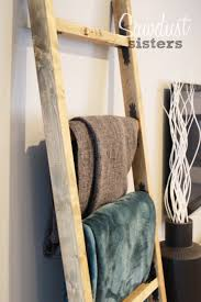 diy blanket ladder sawdust sisters
