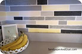 How To Paint Tile Backsplash In Kitchen Diy Faux Tile Backsplash Stephanie Marchetti Sandpaper U0026 Glue