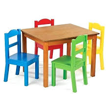 ikea childrens table and chairs kids table chair set tot tutors dark pine table and 4 primary
