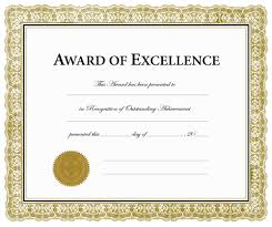 28 certificate of excellence template certificate of