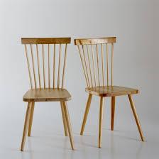 chaise redoute chaise à barreaux bouleau massif jimi lot de 2 la redoute
