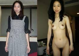 素人熟女着衣比較画像 