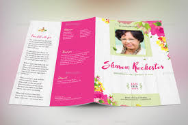 template for funeral program floral funeral program template by godserv2 graphicriver