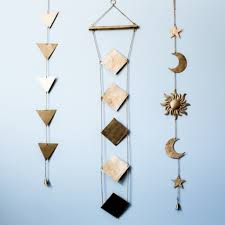 sun moon and wall hanging decor
